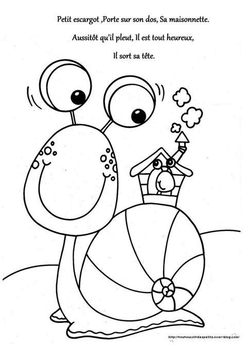 les 25 meilleures id 233 es concernant comptine petit escargot sur comptine escargot