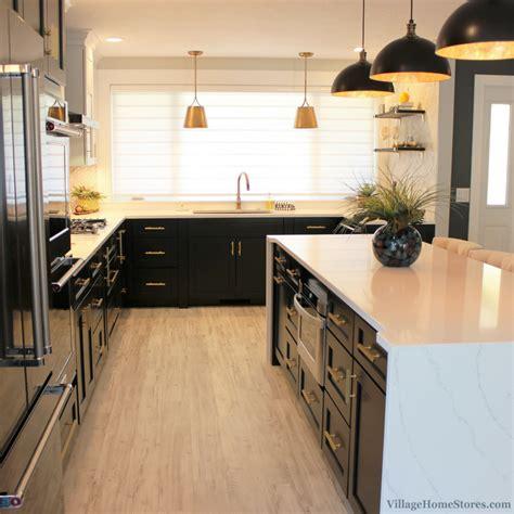 quad cities black white  gold kitchen remodel village