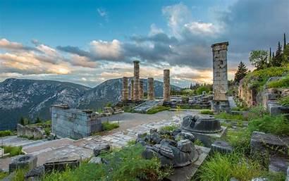 Greece Ancient Delphi Wallpapers Huge Wallpaperplay