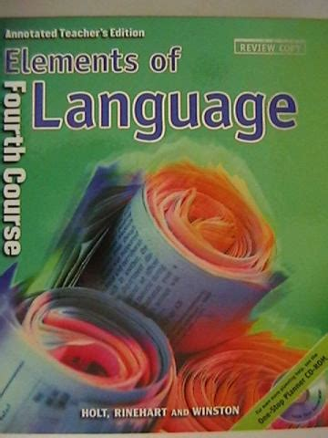 Polynomials, factoring, relations and matrices. Elements of Language 4th Crs Test Answer Keys (P) 0030639972 - $42.95 : K-12 Quality Used ...