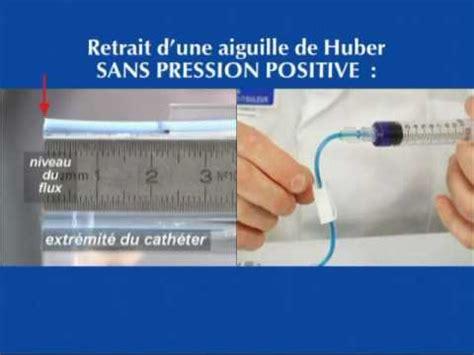rincage pulsé chambre implantable perfusion à domicile retrait de l 39 aiguille de huber en
