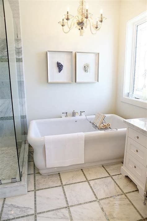 framed mineral art  tub contemporary bathroom