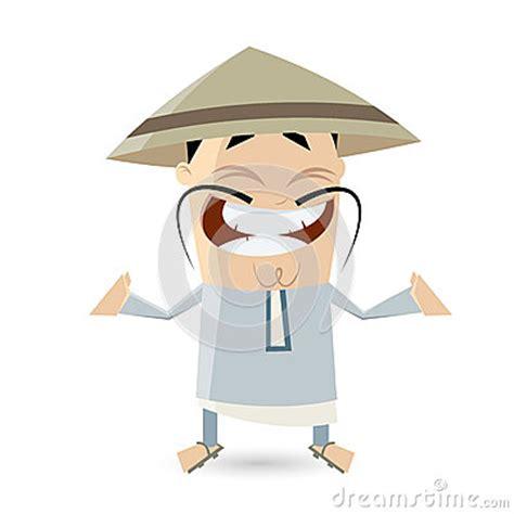 funny cartoon chinese man stock vector image