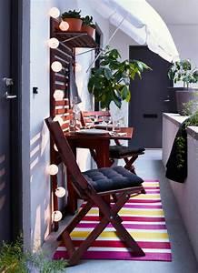 Ikea Table Balcon : balcony chair and table design ideas for urban outdoors ~ Teatrodelosmanantiales.com Idées de Décoration
