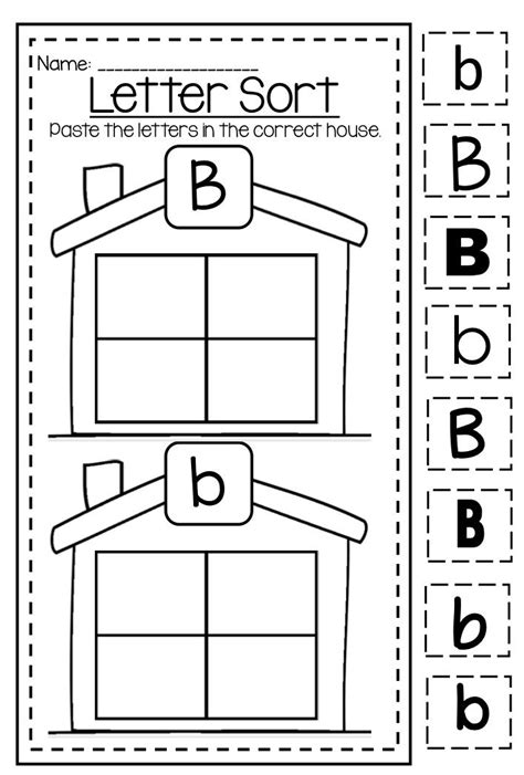 Letter B Capital And Lower Case Differentiation Huge Alphabet Printable Worksheet Bundle My
