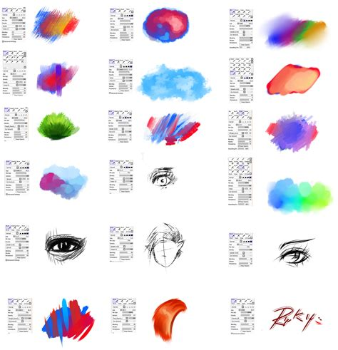 brushes type for paint tool sai 2 by ryky deviantart