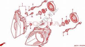 Headlight For Honda Vtr 1000 Sp1 100cv 2001   Honda