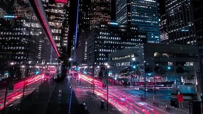 Night Street Background Buildings 4k Toronto Lights