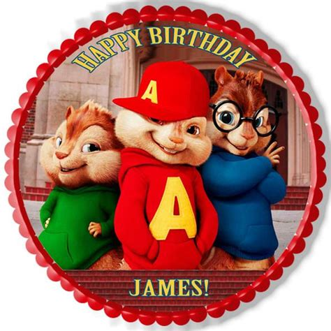 Alvin And The Chipmunks Cake Toppers by Alvin And The Chipmunks Road Chip 1 Edible Cake Topper