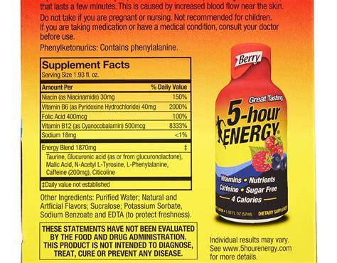 boxedcom  hour energy  pack berry
