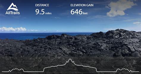 kalapana lava viewing hike hawaii alltrails