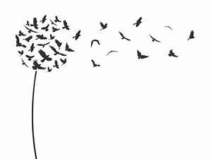 Pusteblume Schwarz Weiß Vögel : wandtattoo pusteblume fliegende v gel ~ Orissabook.com Haus und Dekorationen