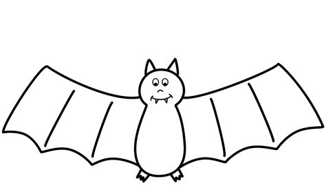 Bat Drawing Outline At Getdrawingscom Free For Personal