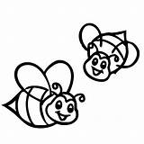 Bee Coloring Pages Bumblebee Bumble Cute Smiling Print Transformers Farm Colouring Honey Drawing Coloring4free Printable Tocolor Flower Looking Queen Preschool sketch template