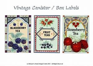 simply crafts vintage canister box labels click to With canister labels printables