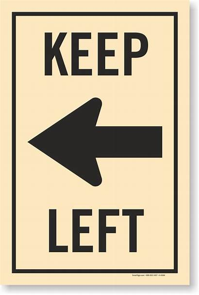Keep Left Arrow Signs Delivery Right Symbol