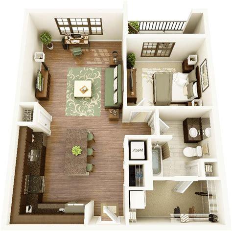 Contoh Desain Denah Rumah Minimalis 1 Kamar Tidur Terbaik