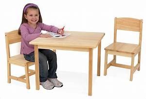 Table Enfant Bois : petite table en bois naturel pour enfant et 2 chaises kidkraft ~ Teatrodelosmanantiales.com Idées de Décoration