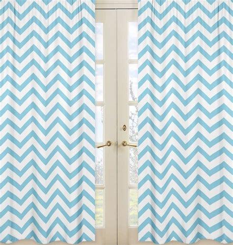 sweet jojo chevron curtains turquoise and white chevron window treatment zig zag