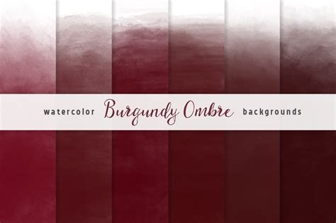 burgundy watercolor backgrounds graphics creative market