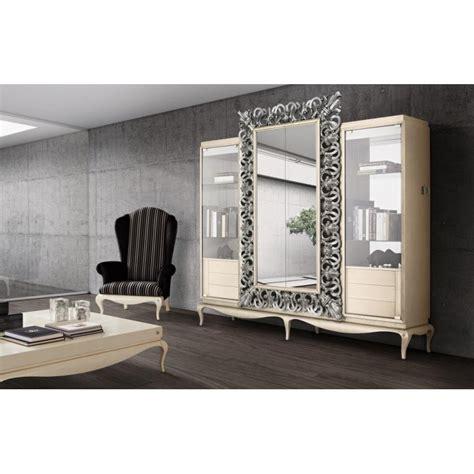 canape italien bibliothèque avec meuble tv miroir de luxe