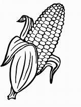 Corn Cob Coloring Drawing Farm Printable Candy Wickedbabesblog sketch template