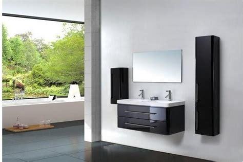 meuble salle de bain laque noir meuble vasque noir laque