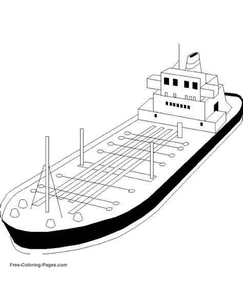 Kleurplaat Binnenvaartschip by Coloring Pages Cargo Boats