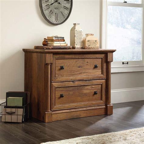 sauder palladia executive desk in vintage oak sauder palladia lateral file in vintage oak 420607