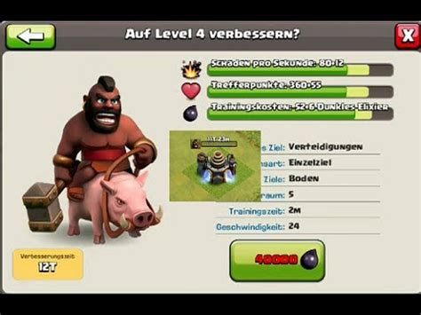 how much does it cost to upgrade your iphone clash of clans hog riders upgrade to lvl 4