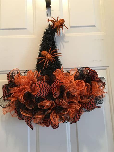 witch hat wreath halloween hats halloween deco mesh