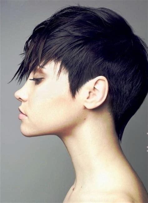 pixie cut long  top
