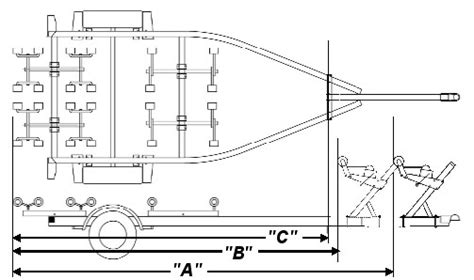 Small Boat Trailer Diagram by Boat Trailer For Sale Ontario Aluminum Boat Trailers