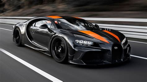 Bugatti claims that the chiron makes the dash from zero to 60 mph in a mere 2.3 seconds, and it has a top speed of 261 mph. Bugatti hits 304.77mph in a Chiron | Top Gear - YouTube