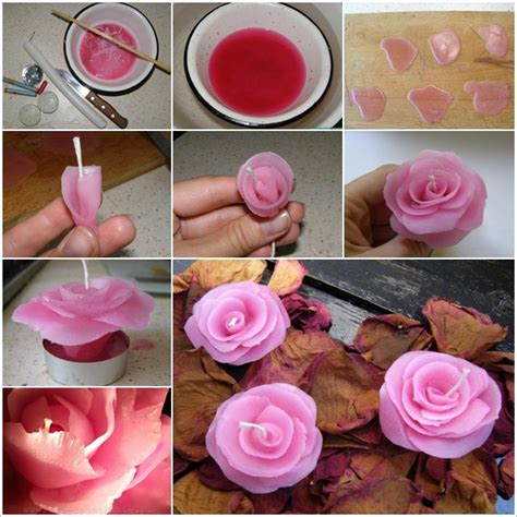 How #excellent And Simple Are These Rose Candles  House
