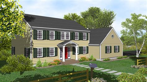 two colonial house plans 2 colonial house plans two colonial house with