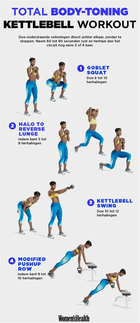 kettlebell workout workouts body fitness training total toning exercises bell oefeningen circuit health met kettle exercise challenge hiit loss weight
