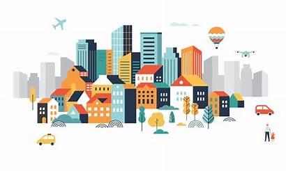 Smart Animation Cities Teaching Building Coronavirus Covid