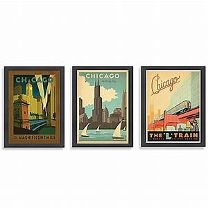 americanflat chicago framed wall art bed bath beyond With chicago wall art