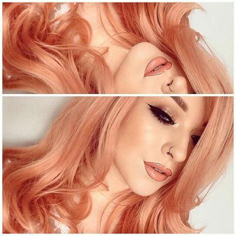 17 Bästa Idéer Om Peach Hair På Pinterest