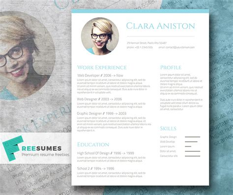 Cv Web Template Woord by Simple Snapshot The Freebie Photo Resume Template