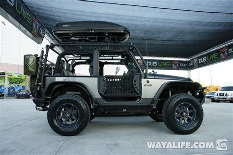 jeep black 2 door 2012 sema kao custom black silver 2 door jeep jk wrangler