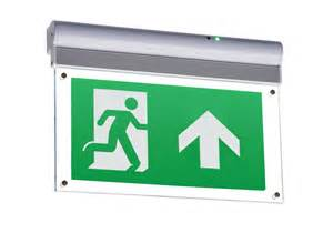 led wall ceiling mount sided legend exit sign