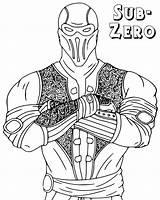 Mortal Kombat Coloring sketch template