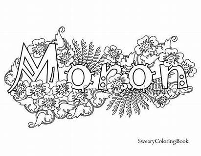 Coloring Swear Pages Adult Words Word Moron