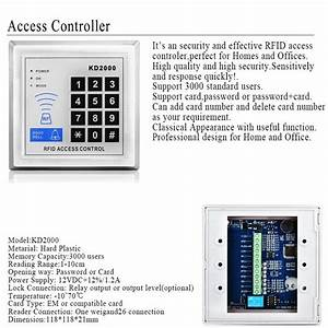 Rfid Access Control Kd2000 Model Electronic Bolt Lock