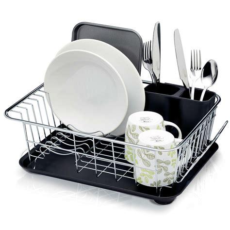 dish drainer rack kitchencraft dish drainer rack with drip tray 42 x 30 5 x
