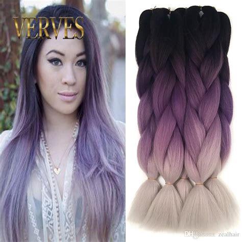 Gray And Purple Hair Spefashion