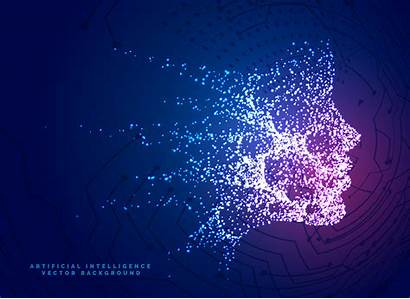 Ai Digital Technology Background Face Particle Vector