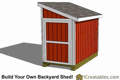 Shed Plans Lean Storage 4x8 Diy Fiberglass